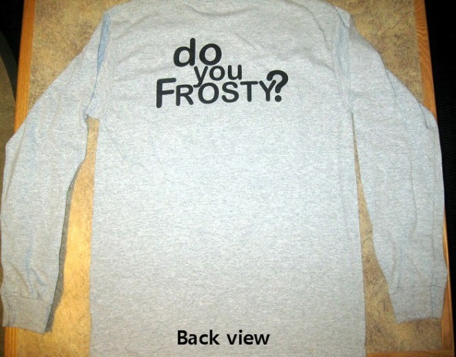 Frosty long sleeve t-shirt (back